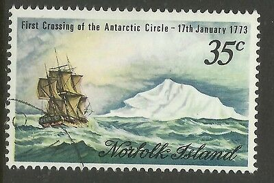 NORFOLK IS 1973 CAPTAIN COOK ANTARCTIC.1v CTO