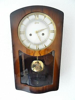 GEWES German Design Wall Clock Retro Vintage Antique 8 day (Junghans Hermle era)