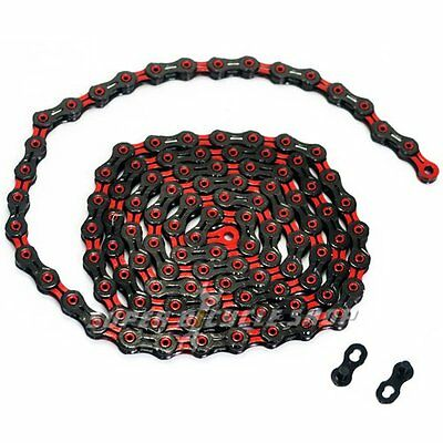 KMC X11SL DLC 11 Speed Chain With Missing Link , Red x Black