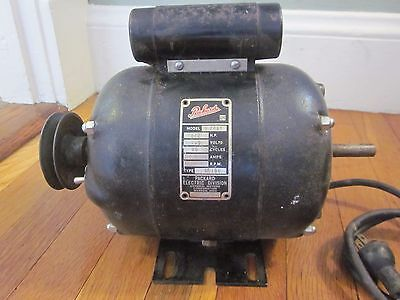 Vtg Packard Gm Electric Motor 1 2hp 3450 Rpm 115v 7 8a Works Exc Lathe