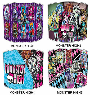 Monster High Lampshades Ideal To Match Monster High Wall Decals & Stickers.