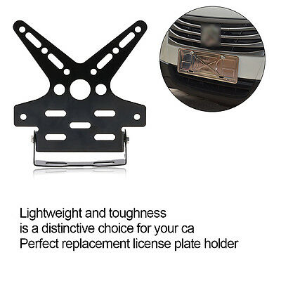 Replacement Alloy Motorcycle Number License Plate Holder Mount Bracket Black IB