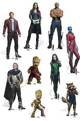 Guardians Of The Galaxy 2 Lifesize Cardboard Cutouts Groot Starlord Rocket Vol 2