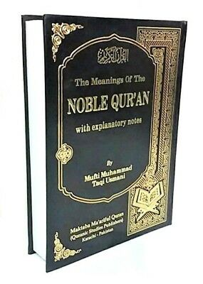 SPECIAL OFFER! The Meanings of the Noble Quran - Mufti Taqi Usmani (HB) 25x18cm