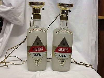 (2) Gibley's Gin Bottle Lamps without shade - Works great!