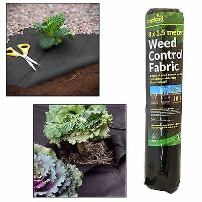 8m x 1.5m Weed Control Garden Ground Mats Cover Sheet Fabric Membrane Driveway