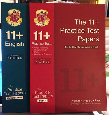 CGP 11+ practice papers 2 full tests VR, Comprehension, Math, NVR