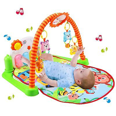 Babyhugs® Colourful Baby Play Gym Mat with Piano and Detachable Cute Toys