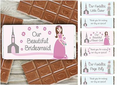 Wedding Chocolate Bars Favours Thank You Gifts for Page Boy Usher Flower Girl