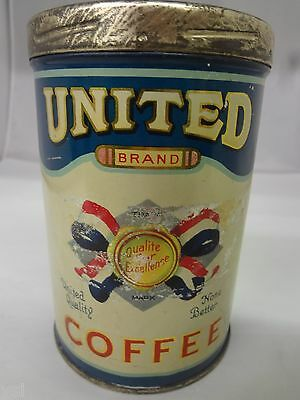 Vintage United Coffee With Original Lid  Advertising Collectible  G-51