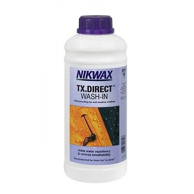 Nikwax TX Direct Wash In 1 Litre Waterproofing for Wet Weather Outdoor Clothing