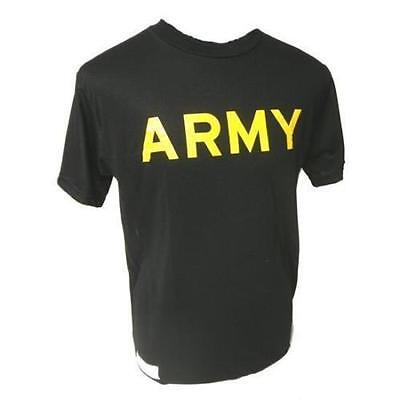 Black Yellow Army Pt T Shirt Physical Training