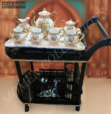 Tea Serving Trolley Coffee Serving Trolley Cocktail Bar Cart Dining Furniture