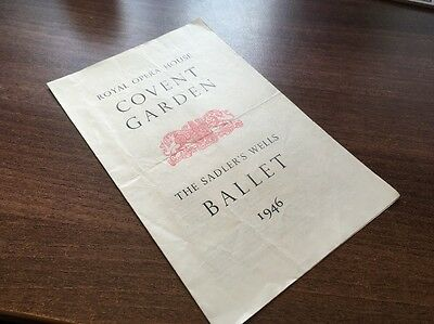 Rare Vintage Covent Garden. The Ballet Theatre. Programme From 1946. Look!!!!