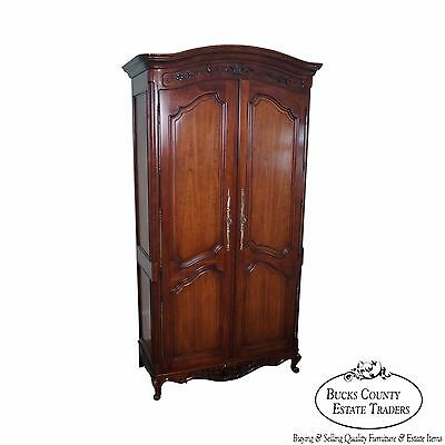 Quality French Louis XV Style Fruitwood Armoire