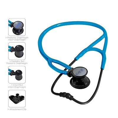 MDF® ProCardial ERA Stethoscope - Black Out / S.Swell (All Black /Bright Bluel)