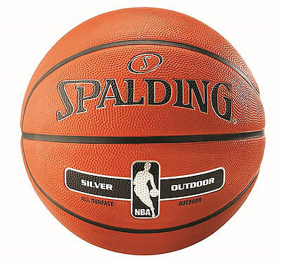 Spalding Basketball NBA Silver Outdoor Gr. 3, 5, 6, 7 Streetbasketball