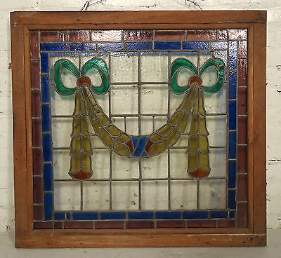 Beautiful Vintage Modern Stained Glass Window (2112)NS