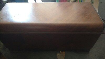 Vintage mid century LANE Hope Cedar Chest w/felt tray Trunk no Lock 1948