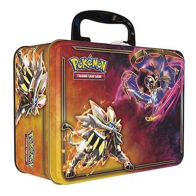 Pokemon Cards Spring 2017 Collectors Chest Tin-Solgaleo Lunala inc Booster Packs