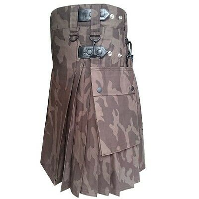 New Tiger Skin Leather Straps utility kilt with Free DHL Shipping