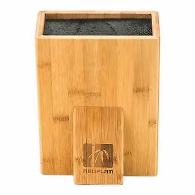 NEW Bamboo Univeral Knife Block