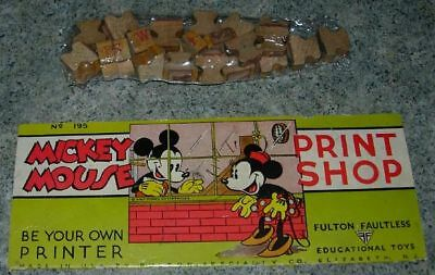 DISNEY  MICKEY MOUSE PRINT SHOP  EARLY  #195 WDE 1930's