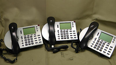 Lot of (3) ShoreTel IP230 Silver LCD Display VOIP Phone #7203