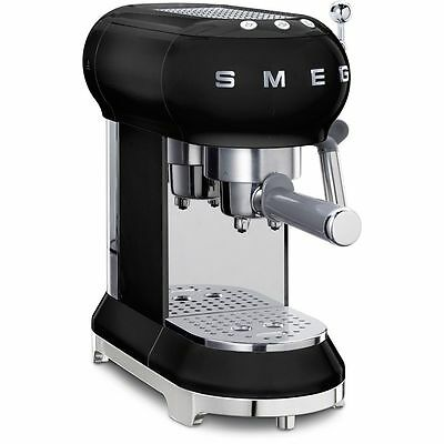 Smeg ECF01BLUK 50's Retro Style Espresso Coffee Machine Black 2 Year Guarantee