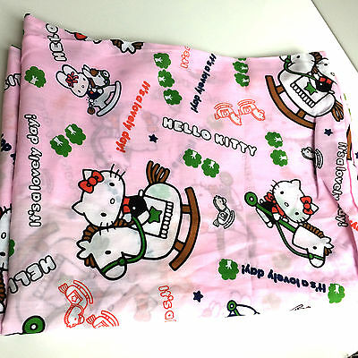 Hello Kitty Pink Kids Crib Size Duvet Cover with Zipper