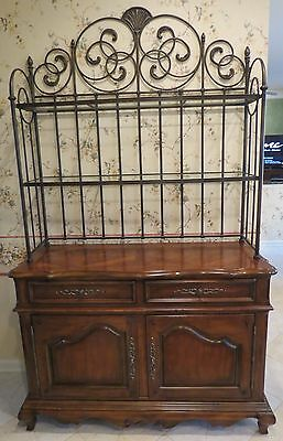 Large Sideboard/Buffet with Wrought Iron Hutch