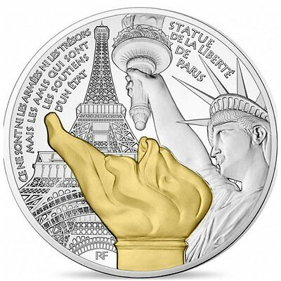 """2017 France 10 Euro Silver Proof Coin """"Paris Treasures: Statue of Liberty"""" #2079"""