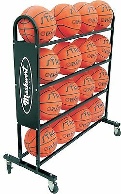 Markwort 16 Ball Capacity Basketball Trolley Black New