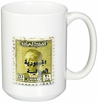 3dRose mug_163497_2 Image of 1948 Iraq Stamp of King Faisal Ii Ceramic Mu... New
