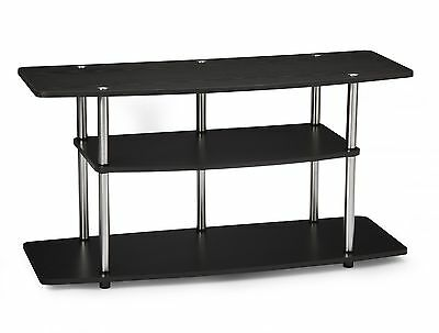 Convenience Concepts Designs2Go Wide 3-Tier TV Stand Black New