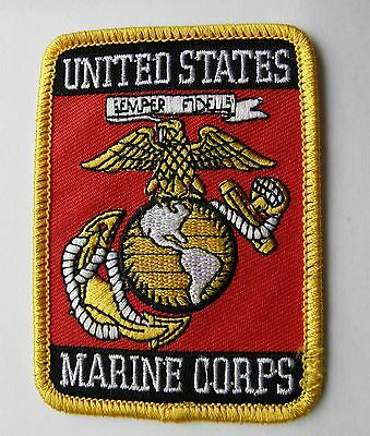 Us Marine Corps Marines Semper Fi Usmc Embroidered Patch 3.75 Inches