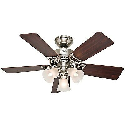 Hunter 51011 Southern Breeze 42-Inch Brushed Nickel Ceiling Fan with Five... New