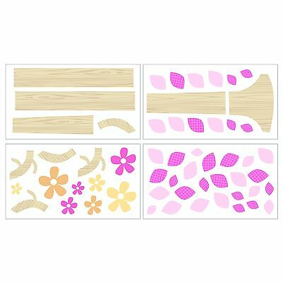 Cocalo Removable Wall Appliques in The Woods Pink/White 1-Pack New