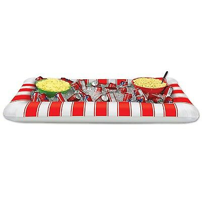 Beistle Inflatable Red and White Stripes Buffet Cooler 28-Inch  Width x 4... New