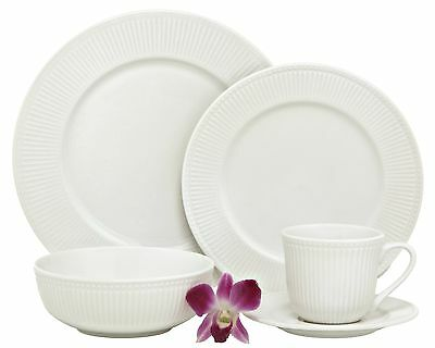 Melange New Italian Villa Porcelain 40-Piece Place Setting White Service ... New