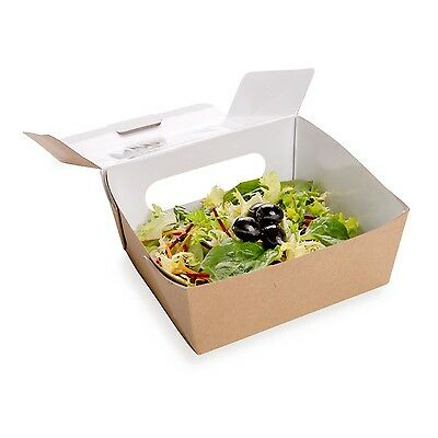 Restaurantware Large Cafe Vision Collection Bio Lunch Box with 2 Windows ... New