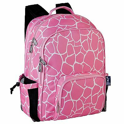Wildkin Pink Giraffe Macropack Backpack One Size Wildkin Pink Giraffe New
