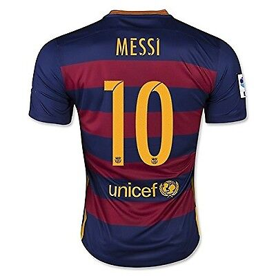 Barcelona Home Messi Kids #10 Soccer Kit Jersey and Shorts All Youth Size... New