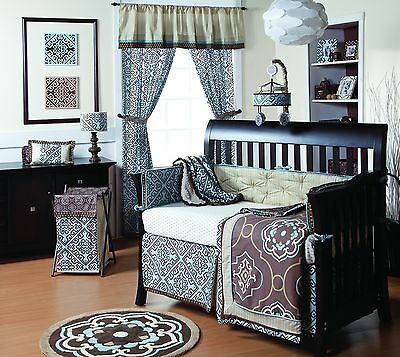 Cocalo 4-Piece Bedding Set Corlu Blue/Brown New