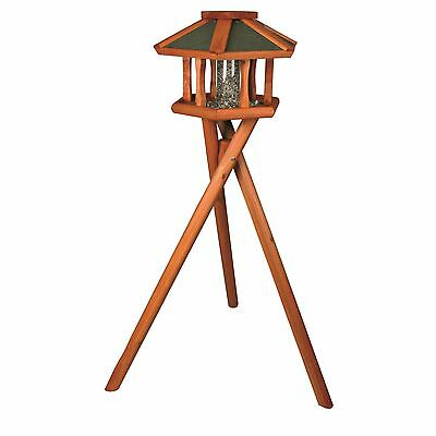 Trixie Pet Products Deluxe Wooden Bird Feeder Gazebo with Stand Brown New