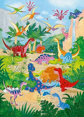 Ideal Dcor DM430 Dino World 72-Inch-by-100-Inch 4-panel mural New