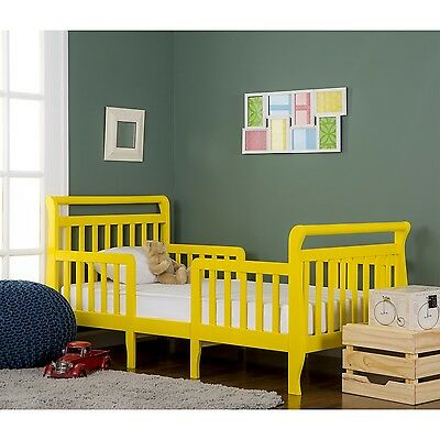 Dream On Me Emma 3 in 1 Convertible Toddler Bed Yellow New