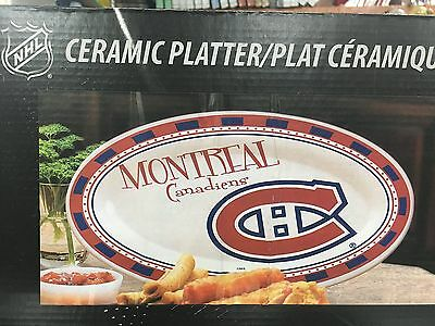 Memory Company NHL-MCA-614 Montreal Canadiens Game Day Ceramic Platter On... New