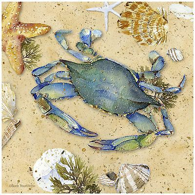 Thirstystone Occasions Trivet Blue Crab-II Multicolor New