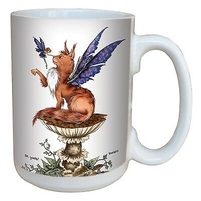 Tree-Free Greetings lm43610 Fantasy Be Good Cat and Fairy Ceramic Mug wit... New